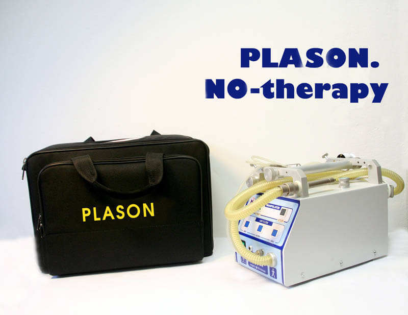 Plason plasma NO-therapy device